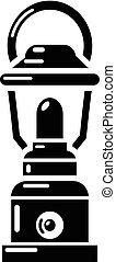 Kerosene lamp icon, simple style - Kerosene lamp icon....