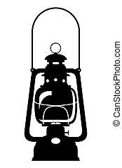 kerosene lamp old retro vintage icon stock vector illustration