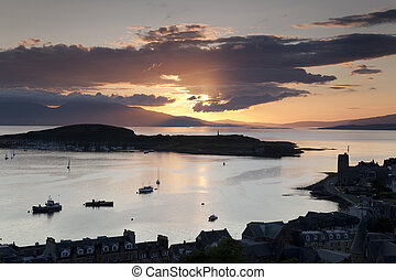 Kerrera Island and the Isle of Mull from Oban Folly, ...