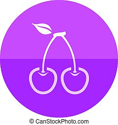 kers, cirkel, -, pictogram