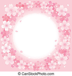 kers ontwikkelt, lente, achtergrond, roze, cirkel