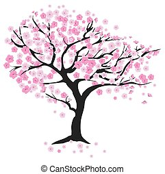 kersenboom, wind