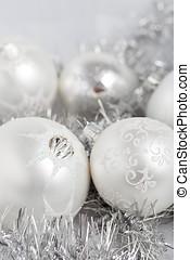 kerst baubles, zilver