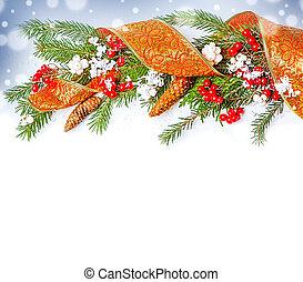 kerst decoraties, grens