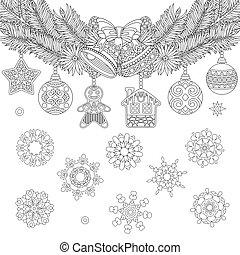 kerst decoraties, hangend