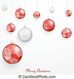 kerstballen, rood