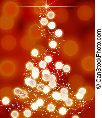 kerstboom, abstract