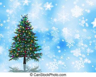 kerstboom, achtergrond