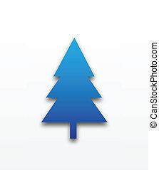 kerstboom, blauwe