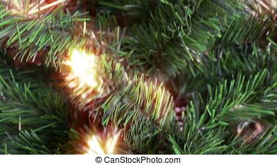 kerstboom, tilt, gloed