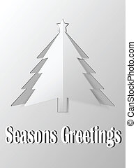 kerstboom, uitsnijden, papier, vector