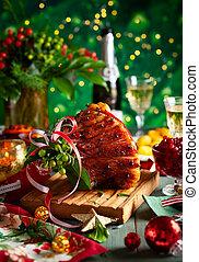kerstgerechten, bovenkant, diner