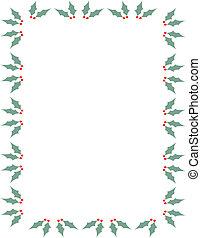 kersthulst, grens, frame