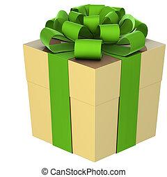 kerstkado, (box), met, boog