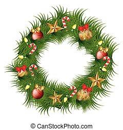 kerstkransje, versiering, pictogram
