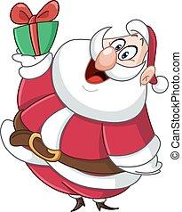 kerstman, cadeau