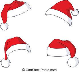kerstman, hoedjes