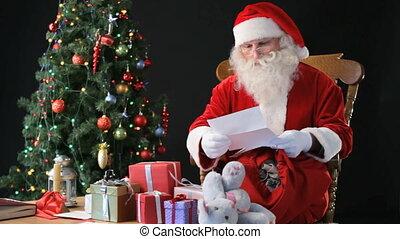 kerstman, op het werk