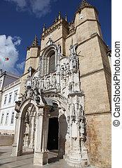 kerstman, portugal, klooster, -, cruz, coimbra
