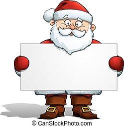 kerstman, vasthouden, etiket
