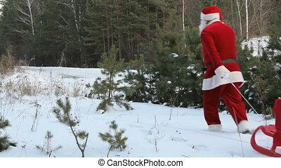 kerstman, verliezen, zak