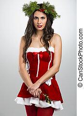 kerstman, vrouw