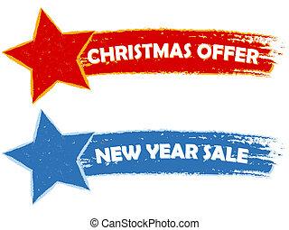 kerstmis, aanbod, jaarwisseling, verkoop, -, twee,...