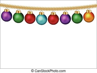kerstmis, achtergrond, bauble