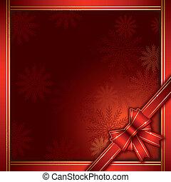 kerstmis, achtergrond, geschenk buiging
