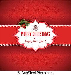 kerstmis, achtergrond, -, illustratie
