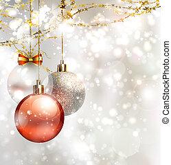 kerstmis, achtergrond, licht