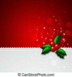kerstmis, achtergrond, met, hulst