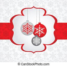 kerstmis, achtergrond, met, retro, model