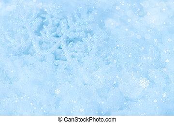 kerstmis, achtergrond, met, snowflakes