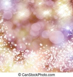 kerstmis, achtergrond, met, witte , snowflakes