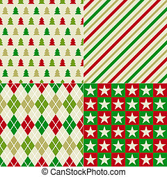 kerstmis, achtergrond, seamless
