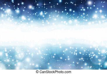 kerstmis, achtergrond, sterretjes