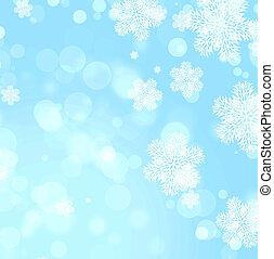 kerstmis, achtergrond, van, blauwe , kleur