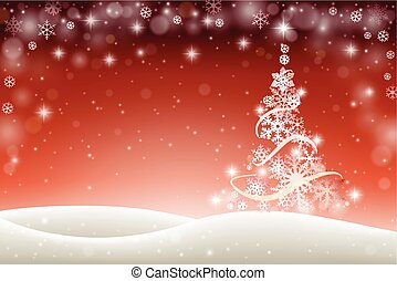 kerstmis, achtergrond, winter