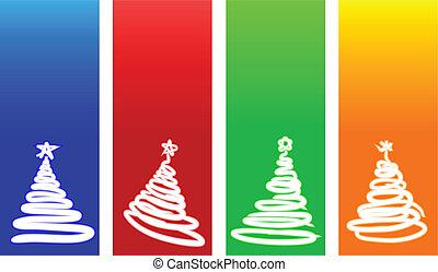 kerstmis, backgrounds.