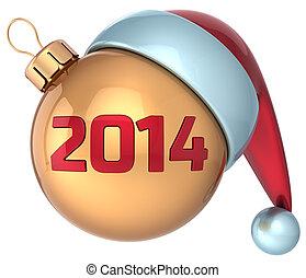 kerstmis bal, nieuw, 2014, jaar, bauble