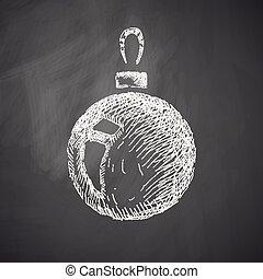 kerstmis bal, pictogram