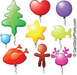 kerstmis, ballons