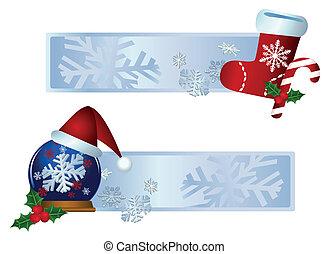 kerstmis, banieren