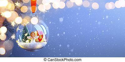 kerstmis, begroetende kaart, achtergrond, of, seizoen, feestdagen, spandoek