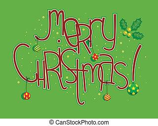 kerstmis, begroetenen