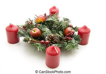 kerstmis, bloem schikking