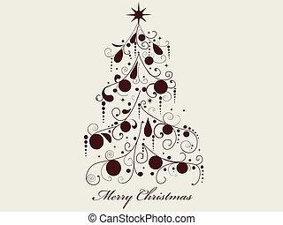 kerstmis, boom., vector