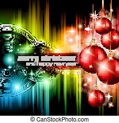kerstmis, club, achtergrond, feestje