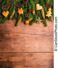 kerstmis, composition., studio, schot.